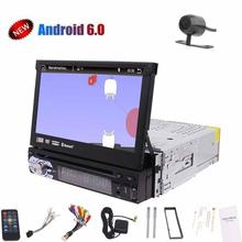 7 inch single din android 6.0 1080P HD video car gps cd dvd player car GPS Navigation Digital TFT wifi Free rearview mirror came(China)