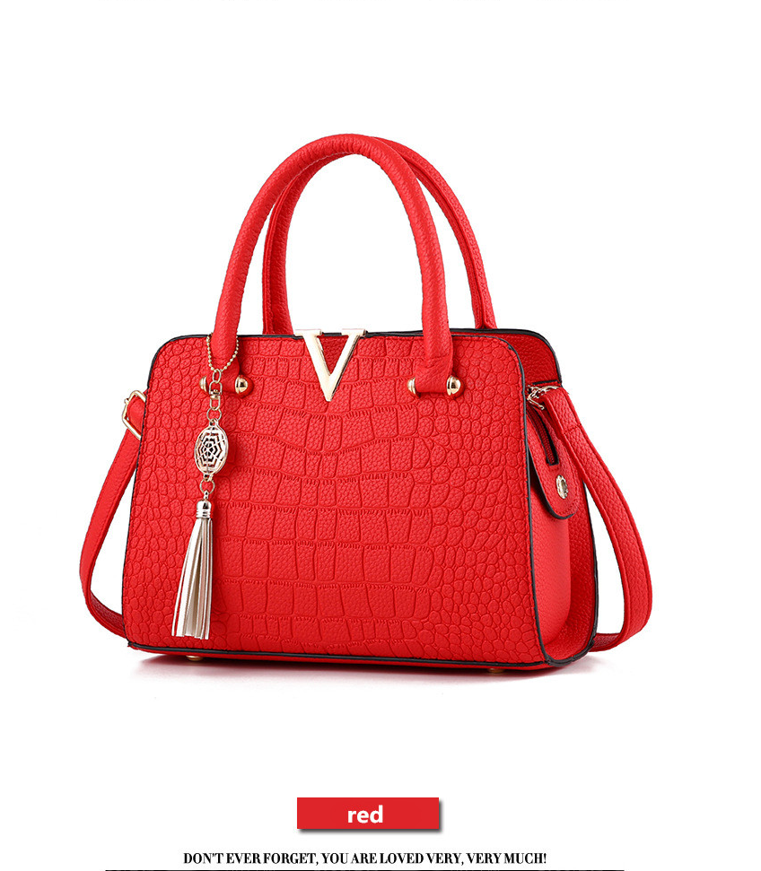 Crocodile Leather Luxury Quality Lady Shoulder Bags 11