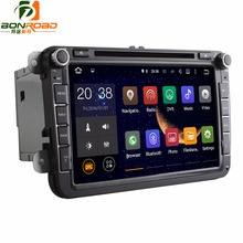 Quad Core 1024*600 Android5.1.1 16GB 2Din Car DVD GPS Navigation Navigator Radio Player For VW  For Skoda