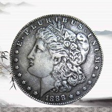 Hot United Stated 1888 Morgan Dollar Plated Silver Double Headed Copy Coin(China)