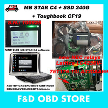CF19 4G+MB Star C4 SD Connect New NEC relays SN 100925+Vediamo/DTS SSD Xentry Compact 4 Mercedes Diagnosis Multiplexer For Benz