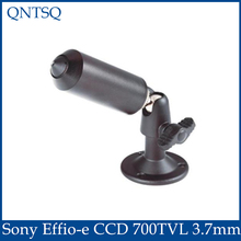 "1/3"" Sony Effio-e CCD 700TVL 3.7mm Lens Mini Wired Pinhole Bullet cctv Camera With Bracket Color Black For 960h DVR,MINI CAMERA"