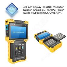 Free shipping! CCTV 1080P IP + Analog Camera 4.0-inch Handheld HD Combine Tester Support ONVIF(China)