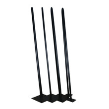 "Angled-4 * 660mm Metal Furniture Legs,Matte Black, 2 Rod 1/2"" Dia. ,Industrial, Mid Century Desk/Dining Table Hairpins Leg"