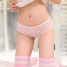 Buy 2018 Hot Brand Panties Stripes Navy High Quality Bowknot Tanga Lovely Cute Sexy Underwear Women Panties Cotton Briefs