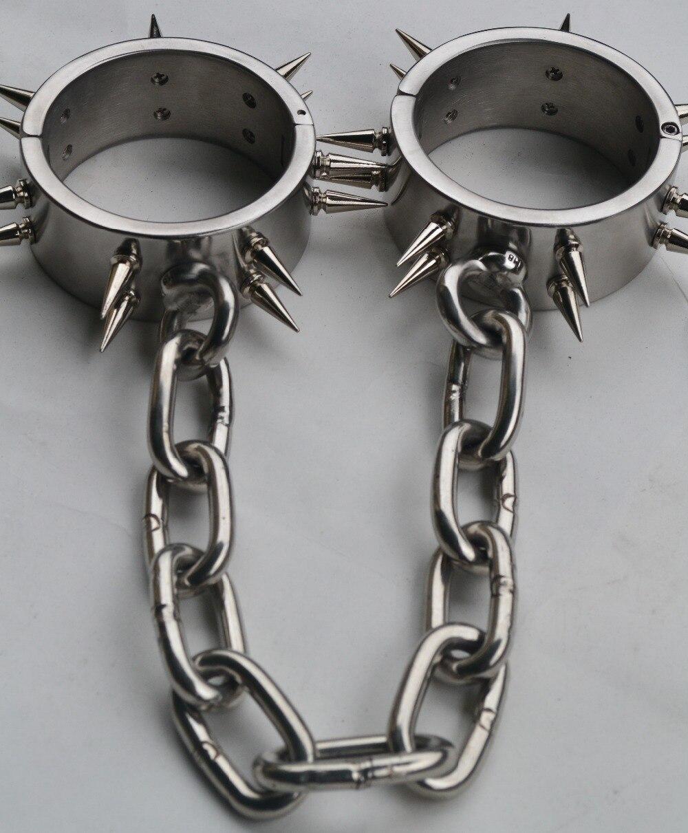 hot stainless steel fetish wear shackles sex slave legcuffs erotic toys bdsm bondage set Restraint harness bondage kit for man<br><br>Aliexpress