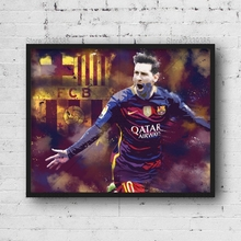5D DIY Diamond Painting Affiche Lionel Messi Barcelona Cross Stitch Mosaic Rhinestones Diamond Embroidery Home Decor Needlework