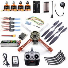 DIY Kit 2.4GHz 4CH APM 2.8 Flight Control Wireless Wifi Transmission 450mm Frame Kit M7N GPS Motor Brushless Drone Quadcopter(China)