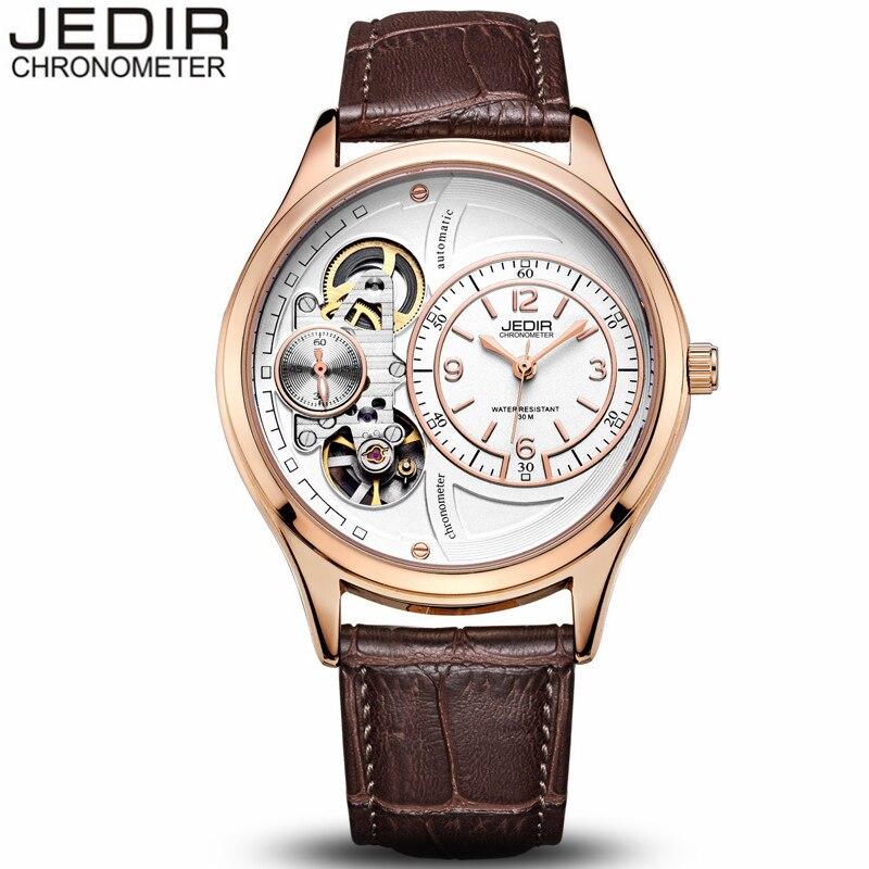 JEDIR Mechanical Watch Men Sport Waterproof Wristwatch Mens Fashion Clock Leather Watches relogio masculino birthday gift N63<br>
