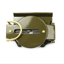 1Pcs Hot Sale High Quality Aluminum Compass Mini Military Camping Marching Lensatic Compass Magnifier Army Green Color