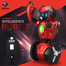 New WLtoys F1 2.4G RC Robot kit toy for boys 3-Axis Gyro USB Charging Intelligent Balance RC Smart Robots model for Kids Gift