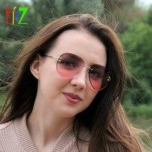 167e1ad98e F.J4Z Hot Fancy Classic Women s Sunglasses Fashion Street Style Eye Wear  Rimless Alloy Arms Gradient Lens Sun Protection Glasses