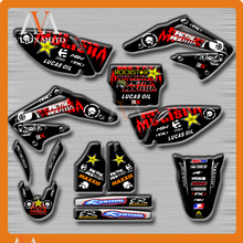 Customized Team Graphics & Backgrounds Decals 3M Stickers For HONDA CRF450R CRF450 R 2002 2003 2004 02 03 04