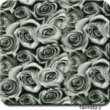 Free shipping gray rose 0.5mX2m heat transfer vinyl CSHY052-2 hydro transfer printing(China)