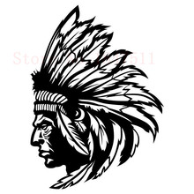 E684 Wall Stickers Decal Art Decor Vinyl DIY home decor Art Poster Vinyl Mural Redskin Native American Indian Chief