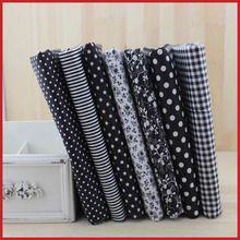 New Arrival~ 50*50CM 7Prints Assorted Black Collection Cotton Sewing Fabric Diy Cloth for Patchwork Quilting Tilda Dropshipping!(China)