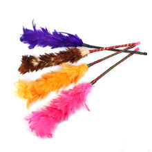 1Pcs Long Soft Magic Feather Duster Colorful Household Cleaning Dust Dusters For Cabinets Cosets Wardrobes(China)