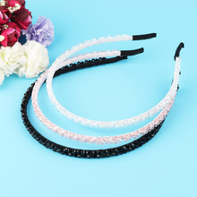 1 Pc Fashion Women Ladies Chic Bead Rhinestone Crystal Head Chain Headband Head Piece Hair Band Girl Braided Headband(China)