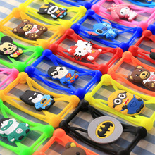 Cute Cartoon Silicone Universal Cell Phone Holster Cases Fundas for HTC One Me M9et M9plus E9 plus  A9 D526 M10 Butterfly 2 3