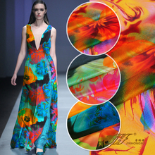 (50 cm/lot) 100% silk chiffon printed fabric for sewing 6 momme scarf fashionable dress expansion zakka patchwork fabric DIY new