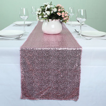 12 x 108 Inch Pink Glitter Table Runners Wedding Event Party Banquet Glitzy Table Decoration