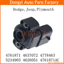 New Throttle Position Sensor TPS OEM 4761871 4637072 4778463 5234903 4626051 4761871AC for Dodge Jeep Plymouth