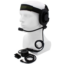 XQF HD01 Z Tactical Bowman Elite II Headset with Waterproof PTT for Motorola 1 Pin Two Way Radio TLKR T3 T4 T5 T6 T7 COBRA T6200