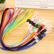 5 pcs/lot Safety Neck Strap ID Card Key Badge Holder Neckstrap Lanyard Keychain Keyring For Phone Camera