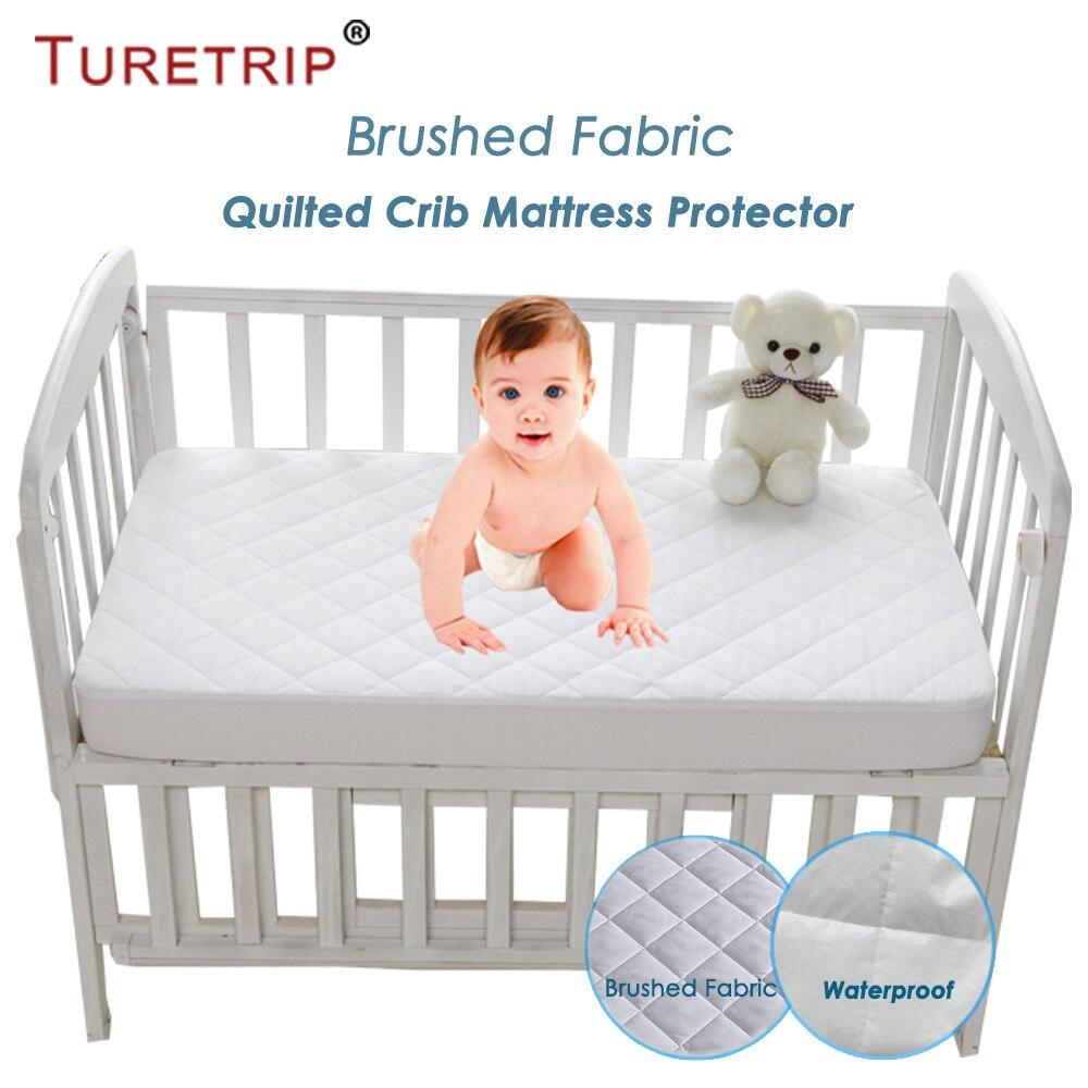 Waterproof Crib Sheet Toddler Bed Sheet and Crib Mattress Pad Cover Protection