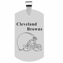 Men Jewelry Dog Tags Pendant Necklaces Stainless Steel Pendant Cleveland Browns Jaguars Football Team Pendant Necklace