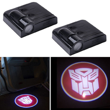 YSY 2X Wireless Car Door Welcome Light Logo No Drill Type Badge Lights LED Laser Ghost Shadow Projector Lamp for Transformers(China)