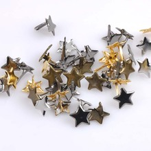 50PCs Mixed Pastel Star Brad Scrapbooking Embellishment Fastener Brads Metal Crafts For shoes Decoration 13mm CP1513(China)