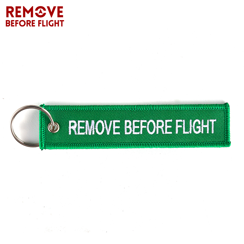 Remove Before Flight Chaveiro for Cars Green Key Fobs OEM Keychain Jewelry for Aviation Gift Tag Embroidery Key Chains Holder (4)