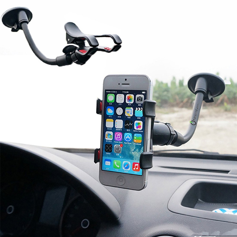 Universal Car Holder Cell Phone Holder For Iphone 6 6s plus SE Stand Support for Samsung Flexible Mobile Phone Holder For Sony(China (Mainland))