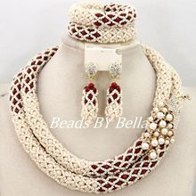 Wholesale Hot African Jewelry Set Well Made Crystal Beads Necklace Women Fashion Wedding Party Beads Set Free Shipping ABY332(China)