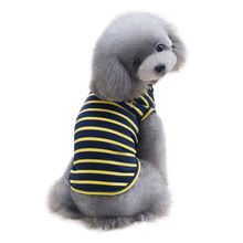 Yellow & black Stripe dog clothing T shirt vest dog clothes first S~XXL pet dog summer clothes chaleco perro verano & CL11