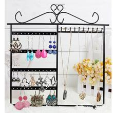 High Quality 48 Hole Earrings Necklace Jewelry Display Metal Stand Rack Holder 10 Hooks