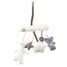 Cute Music Plush Activity Crib Stroller Baby Soft Toys Hanging Rabbit Star Shape Toy High Quality