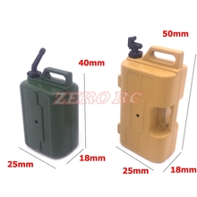 1/10 Scale Rc Truck Accessories Mini Fuel Tank Oil Can For Axial SCX10 D90 Wraith TRX-4