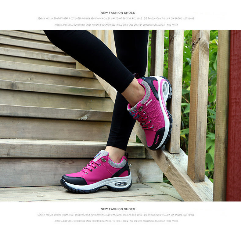 17 High quality Sneakers women shoes Running shoes woman leather Sport Shoes Air damping Outdoor arena Athletic zapatos mujer 18
