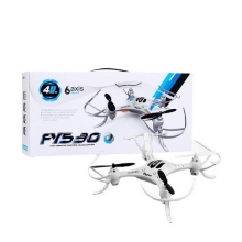 RC Drone FY530 RC Helicopter Quadcopter 4-CH 6-Axis 2.4GHz Gyro Radio Control Drone with RTF (Color: White)
