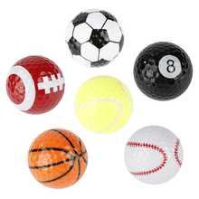 Liplasting 6Pcs Novelty Outdoor Practice Golf Balls Lightweight Design Game Accessory Gift for Golfing Game Training(China)