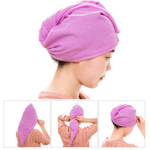 1PC Quick-Dry Microfiber Hair Towel Wrap Strong Absorbent Hair Dry Hat Multi Color Bath Towel Cap