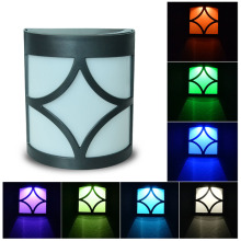 LED Solar Power Lighting Sensor Wall Light Outdoor Waterproof Energy Saving Yard Path Garden Security Lamp 7 Colors Changing