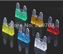 120 pc Mini Assorted Car Fuse Auto & Trucks Color Coded Fuse Automotive Fuses Box 5A 10A 15A 20A 25A 30A free shipping