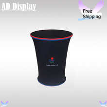 Trade Show Booth Advertising Tension Fabric Display Counter With Full Color Banner Printing,Portable Exhibition Promotion Table