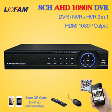 LOFAM Home 8Channel 1080N 720P H.264 Video Recorder HDMI 1080P WIFI Network surveillance CCTV security DVR 8CH with 3 x USB port
