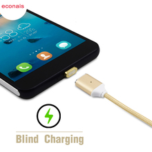 econais Magnetic Data Micro USB Cable For Android LG G3 4 K10 Nexus 4 5 5X 6, Magnetic Charging For Huawei P7 P8 Mate8 Honor 4c(China)