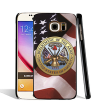 08506 American Flag with Army cell phone case cover for Samsung Galaxy S7 edge PLUS S6 S5 S4 S3 MINI
