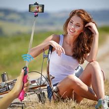 2017 Hot Extendable Handheld Selfie Stick with Tripod Function Bluetooth Remote Shoot support for iphone and andriod ios phone(China)